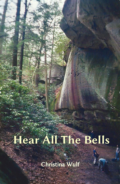 Image of Hear All The Bells book cover featuring a dramatic forest scene